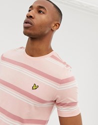 Lyle And Scott Stripe T Shirt In Pink