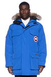 Canada Goose Polar Bears International Expedition Coyote Fur Trim Parka Blue