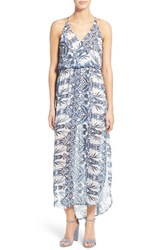 Women's Lush Floral Print Surplice Maxi Dress