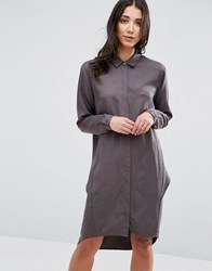 Selected Charis Shirt Dress Pavement Black