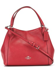 Coach Zip Up Tote Bag Red
