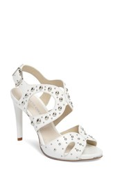Kenneth Cole New York Baldwin Stud Sandal White Leather