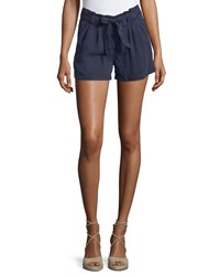 On The Road Belted Mid Rise Shorts Blue