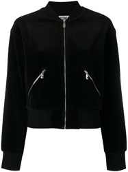 Sonia Rykiel By Velvet Bomber Jacket Women Cotton Polyester S Black