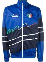 Diadora Zipped Sports Jacket Blue