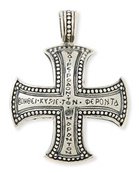 Men's Dare Sterling Silver Cross Pendant Konstantino