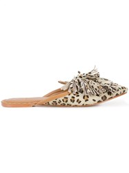Figue Sade Cheetah Print Mules Multicolour