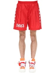 Hummel Willy Chavarria Shorts W Side Bands True Red