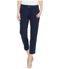 Jag Jeans Creston Ankle Crop In Bay Twill Nautical Navy Women's Casual Pants