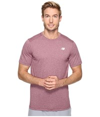 New Balance Short Sleeve Heather Tech Tee Sedona Heather Men's T Shirt Purple