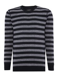 Peter Werth Lodge Wide Stripe Jumper Indigo