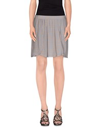 Gold Case Skirts Mini Skirts Women Grey