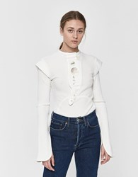 Ellery Erratum Placket Rib Top Ivory