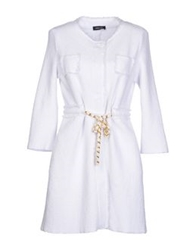 Anneclaire Full Length Jackets White