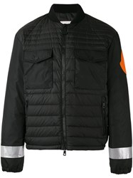 Moncler X Off White Padded Reflective Print Jacket Black