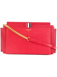 Thom Browne Leather Accordion Shoulder Bag Red