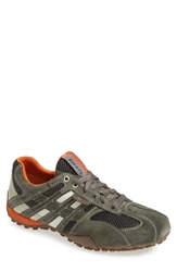 Geox 'Uomo Snake 94' Sneaker Men Dark Grey Off White
