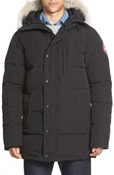 Canada Goose Men's 'Carson' Slim Fit Hooded Packable Parka With Genuine Coyote Fur Trim Graphite