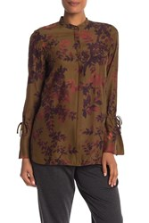 Lafayette 148 New York Desra Silk Blouse Sequoia Multi