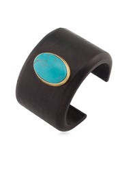 Lauren Ralph Lauren Natural Instincts Faux Turquoise Wood Bangle Bracelet Gold
