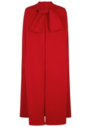 Valentino Red Wool And Cashmere Blend Cape