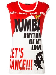 Dolce And Gabbana 'Let's Dance' T Shirt Red