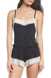 Black Bow Amil Romper Black
