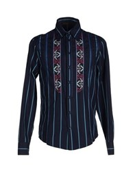Class Roberto Cavalli Shirts Shirts Men Dark Blue