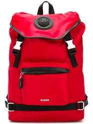 Versus Strap Fastening Backpack Red