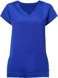 Peter Cohen V Neck T Shirt Blue