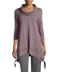 Neon Buddha Nomad 3 4 Sleeve Cowl Neck Tunic Orchid