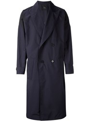 Yoshio Kubo Long Trench Coat Blue