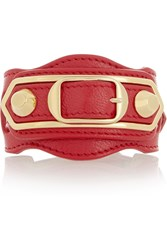 Balenciaga Holiday Collection Studded Textured Leather Bracelet