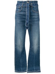 Veronica Beard Cropped Flared Jeans Blue