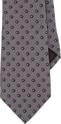 Ralph Lauren Black Label Micro Diamond Pattern Neck Tie Grey