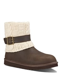 Ugg Cassidee Sweater Cuff Booties Chocolate