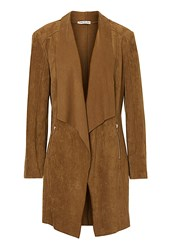 Betty Barclay Faux Suede Waterfall Jacket Brown