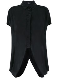 Lost And Found Ria Dunn Curved Hem Shirt Black