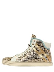 Hogan Rebel 50Mm Printed Snakeskin Leather Sneakers