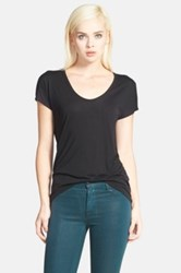 Trouve 'Easy' V Neck Tee Black
