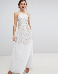 Frock And Frill Scatter Sequin Maxi Dress Cream