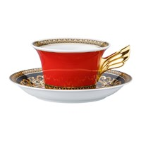 Versace Home 25Th Anniversary Medusa Teacup And Saucer Limited Edition