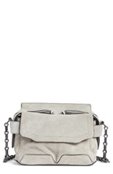 Rag And Bone Pilot Satchel Metallic Cement Suede