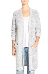 Stem Boucle Sweater Coat Grey Lunar Nep Boucle
