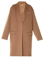 Givenchy Slim Lapel Button Fastening Coat Camel