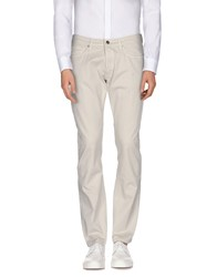 M.Grifoni Denim Trousers Casual Trousers Men Light Grey