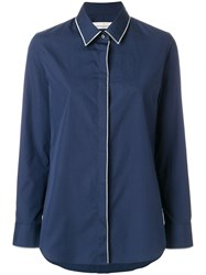 Golden Goose Deluxe Brand Piped Trim Shirt Cotton Blue