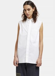Acne Studios Belevue Sleeveless Shirt White