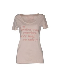 Worn Free Short Sleeve T Shirts Light Pink