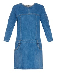 See By Chloe Braid Detail Denim Dress